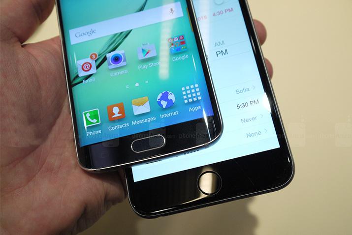 Samsung Galaxy S6 Edge and iPhone 6 Plus