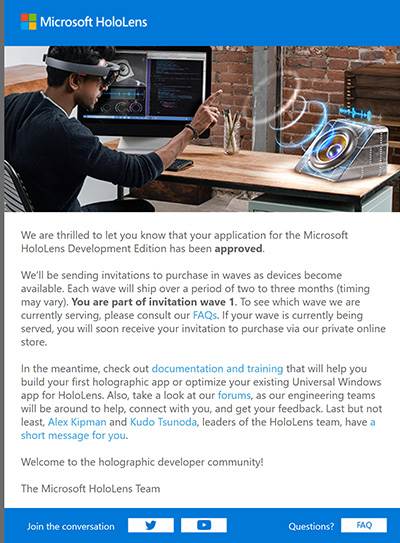 How It Feels To Receive A Microsoft HoloLens Developer's