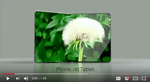 Samsung foldable phone concept -- click to play in YouTube.