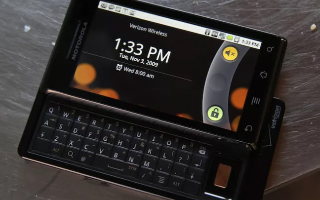 The Motorola Droid, released in November of 2009, was a breakthrough for Android smartphones.