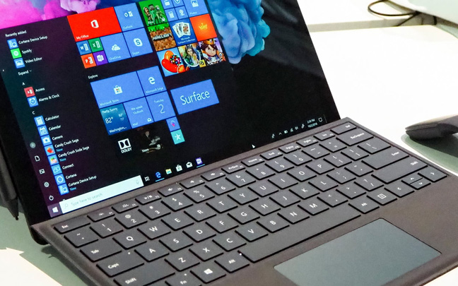 The latest Surface Pro doesn't have a USB-C port.