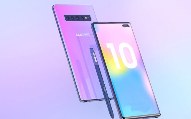 Galaxy Note 10 Mock-up