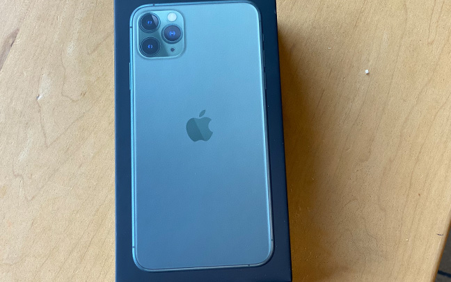 iPhone 11 Pro Max comes in a stylish box.