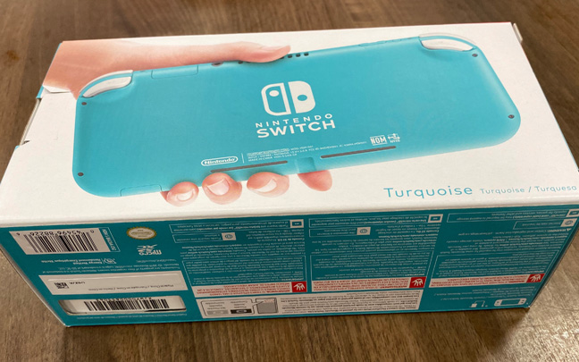 The Switch Lite comes in a small box.