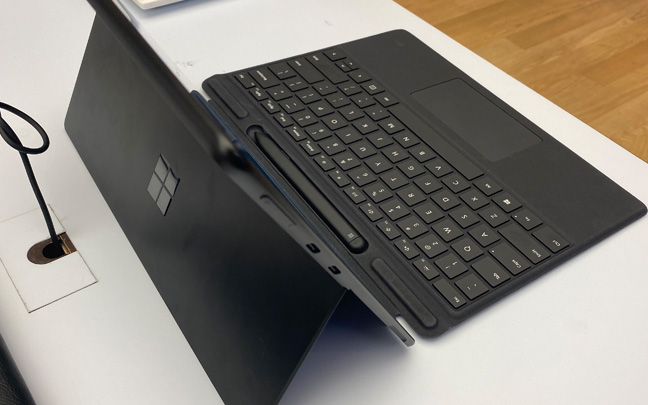 The Surface Pro X is impressively thin.
