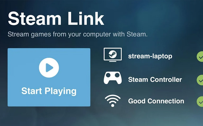 Steam Link is available on Android but not iOS.