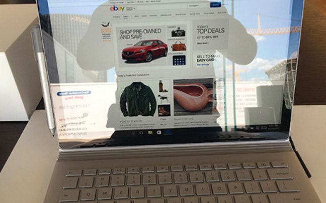 Microsoft Surface Book (Picture taken at Microsoft Store)