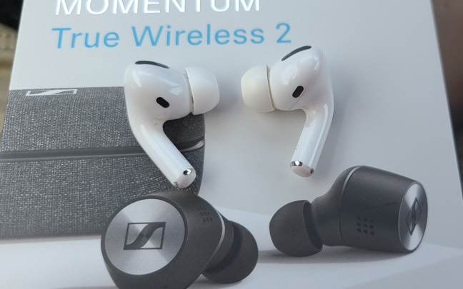 The AirPod Pros offer better call quality than Sennheiser's buds.