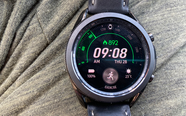 The Galaxy Watch3 is very useful in tracking various types of exercises.