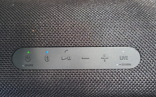 The SRS-XB43 Control buttons are simple.