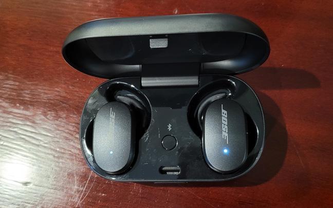 The QuietComfort Earbuds charging case is huge.