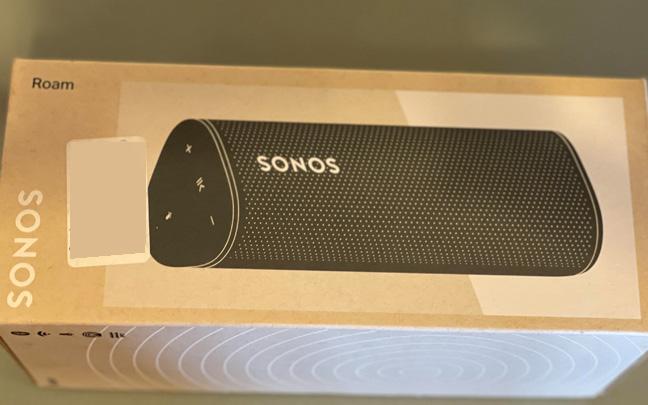 The Sonos Roam comes in a very small box.