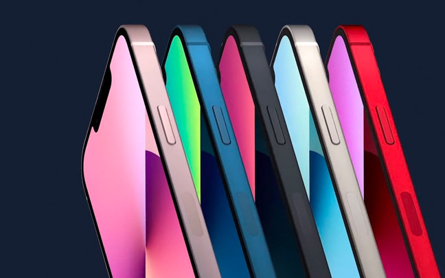 The iPhone 13 series will launch in a variety of colors.