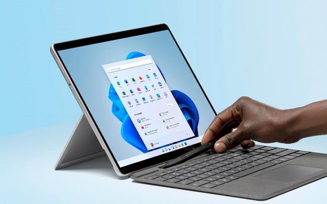 The new Surface Pro runs Microsoft's brand new Windows 11 operating system.